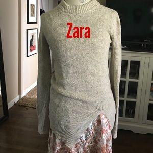 Zara Knit Italian Yarn slit sweater S